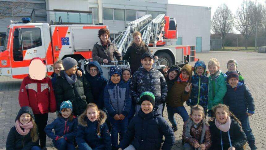 Zu Besuch bei der Feuerwehr