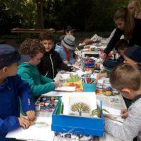 Lerngruppe Wasser zum Herbstfest auf der EGA 9