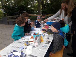 Lerngruppe Wasser zum Herbstfest auf der EGA 13
