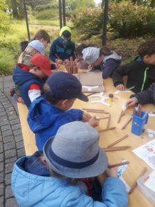 Lerngruppe Wasser zum Herbstfest auf der EGA 3