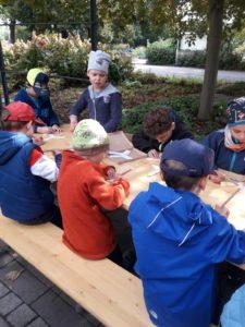 Lerngruppe Wasser zum Herbstfest auf der EGA 7